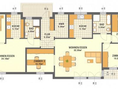Pomieszczenia - 2 mieszkania